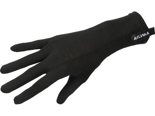 Aclima LightWool Guantes Liner, jet black